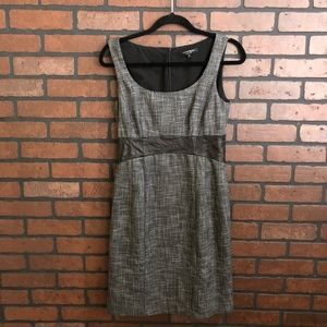 Nanette Lepore leather tweed dress 6